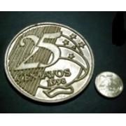 MOEDA JUMBO RESINA 0,25 centavos
