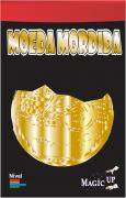 Moeda Mordida 0,25 centavos dourado - Coleção Fast Magic N°51 R+