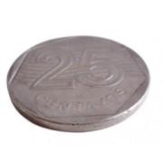 Moeda que Entorta - 0,25 Prateada - Bending Coin D+