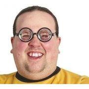 Óculos Do Nerd Intelectual - Fundo De Garrafa. B+