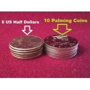 Palming Coins x 10 - Moeda para empalmagem modelo Half Dollar