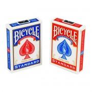 Par de baralho standard azul e vermelho