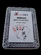 Par de baralho  formato bridge link sky   100% plastico