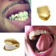 pegadinha fantasia Dente de Ouro - gold tooth