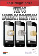 Moeda Digital Set com 03 moedas 0,25 0,50 e 1 real - Coleção Fast Magic N 47 R+