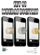 SET 03 MOEDAS DIGITAIS