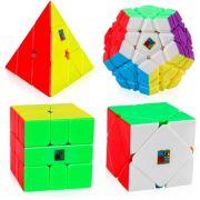 set cubo magico Kit Megaminx Pyraminx Skewb Square-1 SQ1
