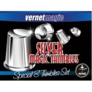 Silver Magic Thimbles Set b+