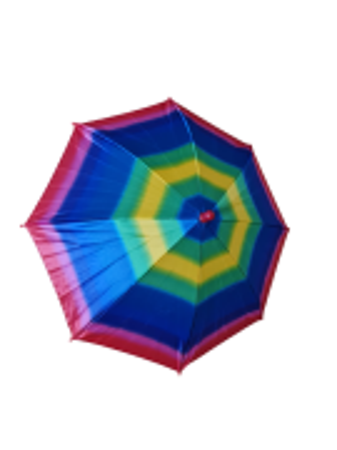 Sombrinha estampa multicor arco iris
