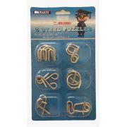 Steel puzzles - Quebras cabeças com seis pecas