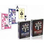 World Serie Poker 100% Plástico Fournier - Azul e Vermelho