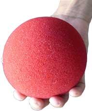 1 BOLA DE ESPUMA  JUMBO GOSHMAN Super Soft  4  inch COR vermelho