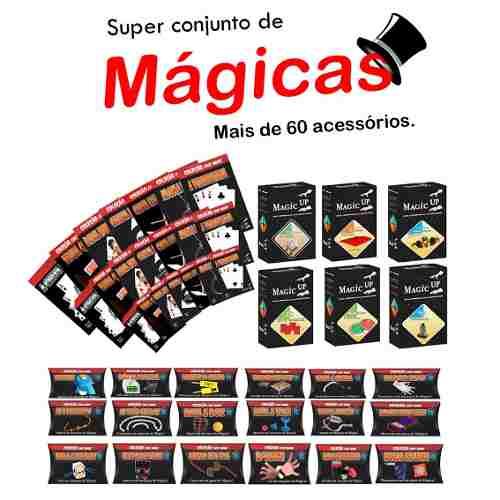 Mega Kit De Mágicas Toda A Coleção Classic E Fast Magic Da Magic Up E Dvds + De 60 Itens G+