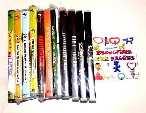 Curso Completo de Mágicas com 13 Dvds + 7 Acessórios D+