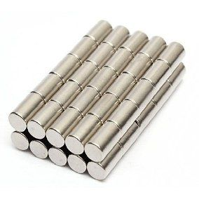 10 Imãs Neodímio 10x6mm R+