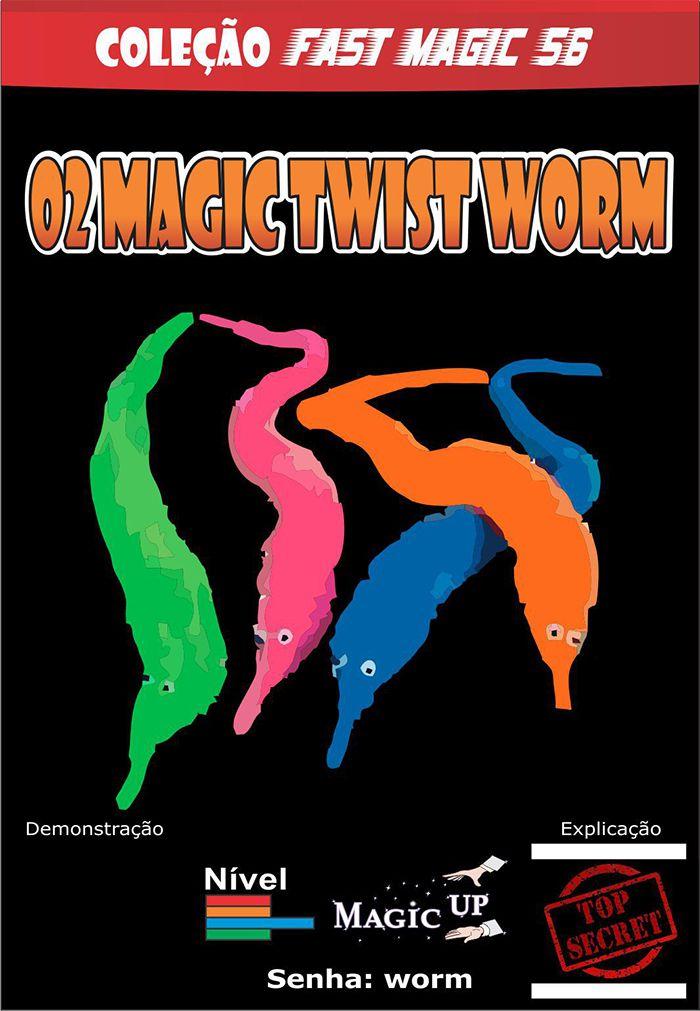2 Magic Twist Worm  Coleção Fast Magic N 56 R+