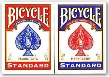 Par de Baralhos Stadard Bicycle ( Vermelho+Preto ou Azul) M+