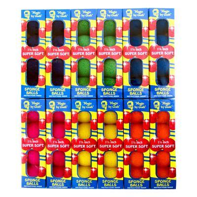 4 Bolas de Espuma Goshman Super Soft 1,5 Inch Cores Variadas R+