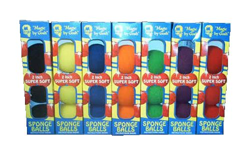 4 Bolas de Espuma Goshman Super Soft 2 Inch Cores Variadas M+