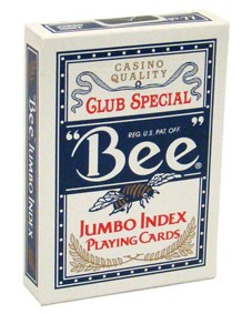 Baralho Bee Jumbo Azul poker B+