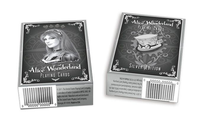 Baralho Bicycle Alice of Wonderland Silver B+