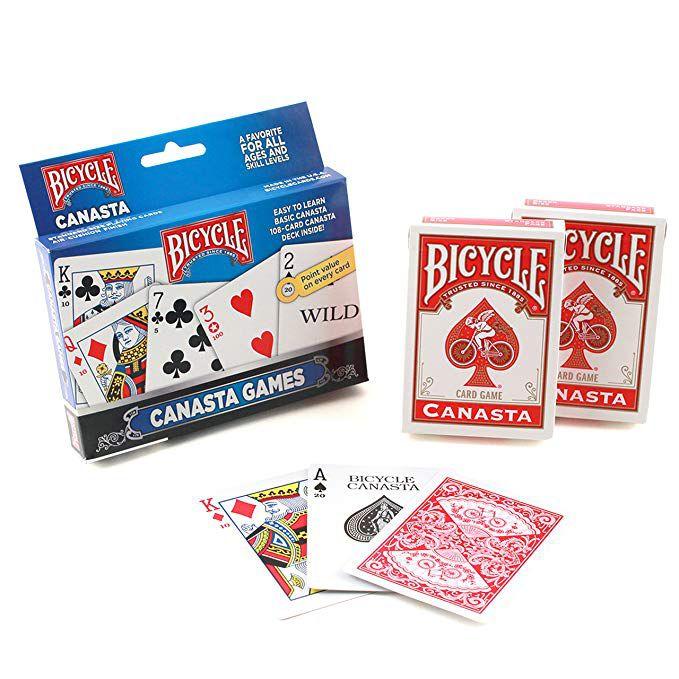 Par de Baralhos Bicycle para Canasta R+