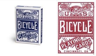 Baralho Bicycle Russel & Morgan Chainless Azul ou Vermelho R+