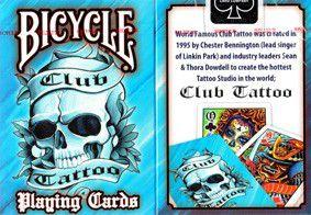 Baralho Bicycle Civil Club Tattoo Azul R+