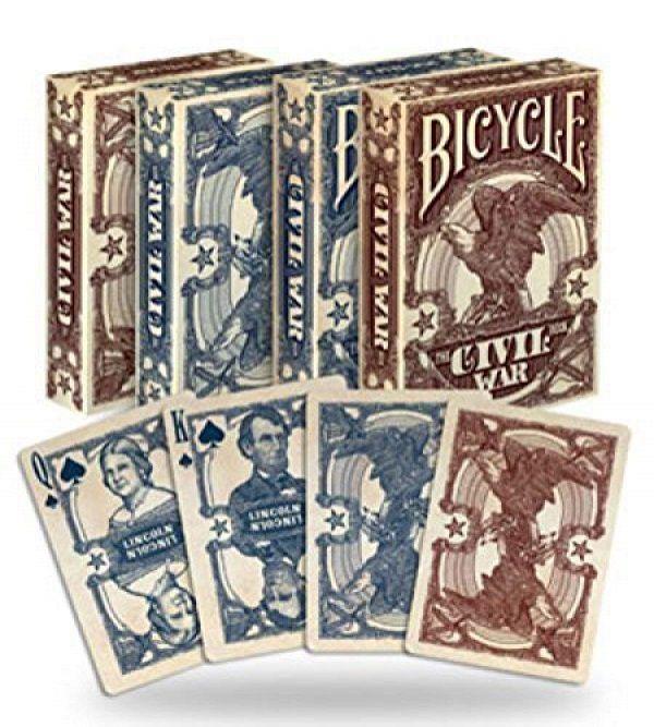 Baralho Bicycle Civil War Azul ou Vermelho B+