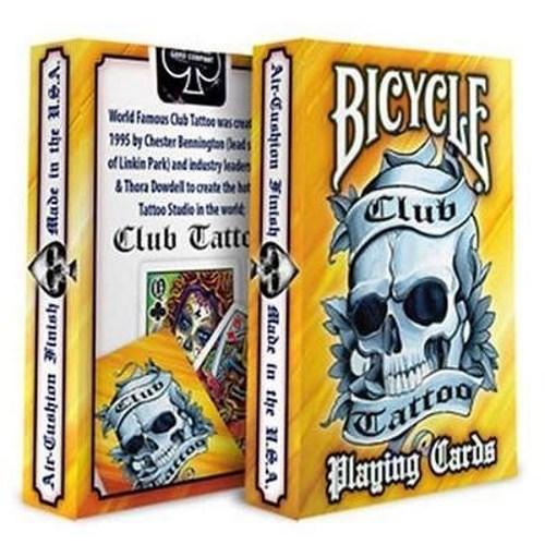 Baralho Bicycle  Club Tattoo Laranja R+
