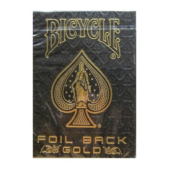 Baralho Bicycle Foil Back Gold - Metal