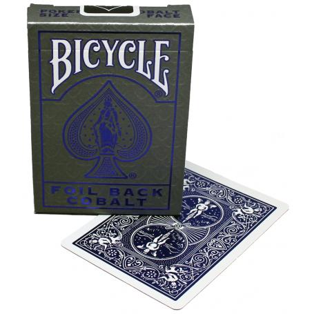 Baralho Bicycle Foil Back Metalluxe Cobalt  - Premium B+