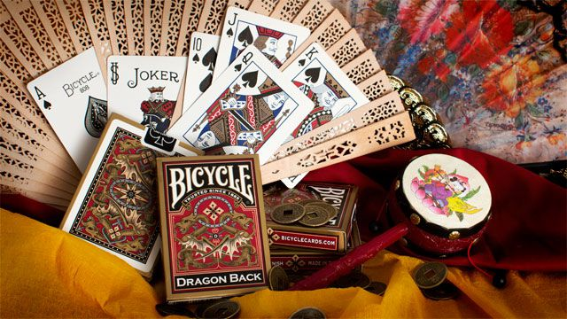 BARALHO BICYCLE GOLD DRAGON BACK