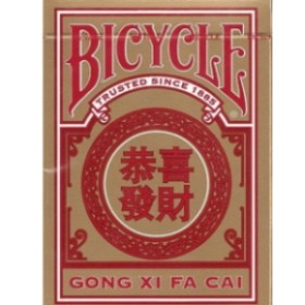 BARALHO BICYCLE GONG XI FA CAI - VERNELHO