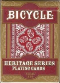 BARALHO BICYCLE HERITAGE SERIES PEDAL 1899 VERMELHO