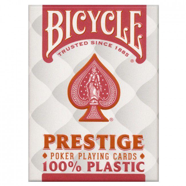Baralho para jogar poker  Bycicle Prestige Azul e Vermelho - cartas 100% plastico B+