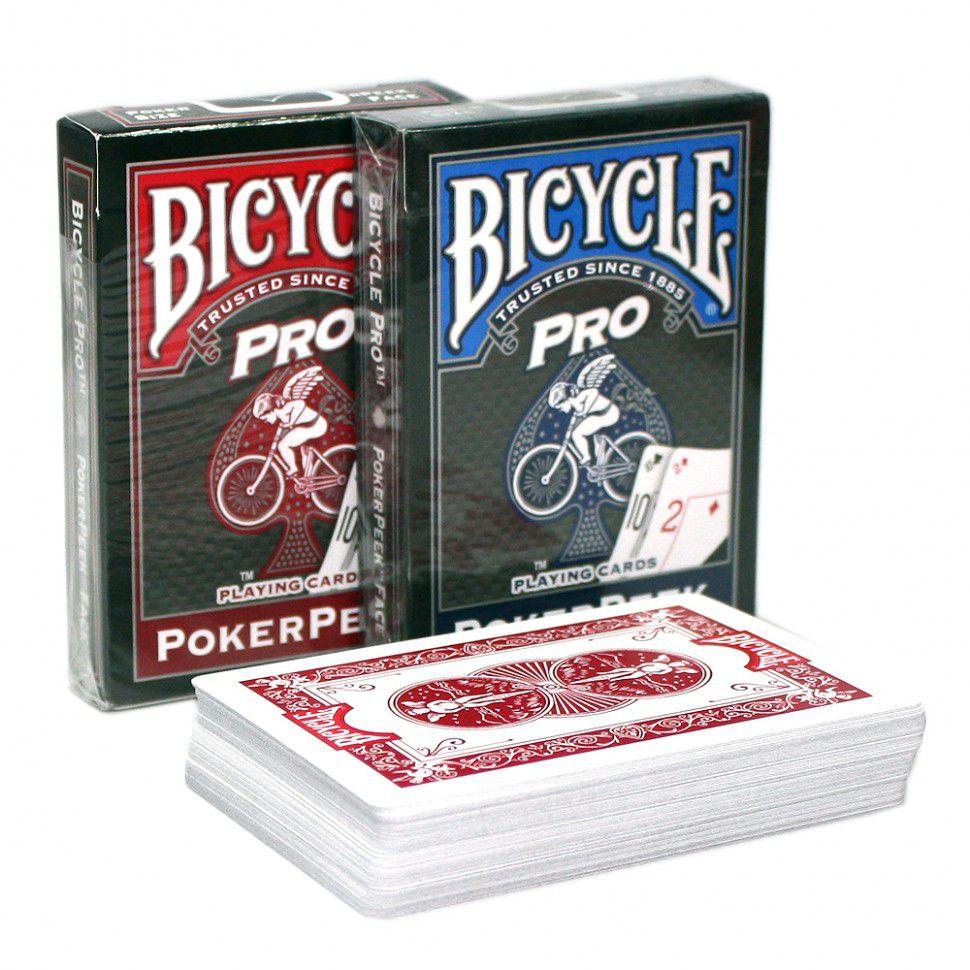 Baralho Bicycle Pro PokerPeek Azul ou vermelho b+