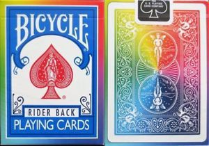 Baralho Bicycle  Rider Rainbow Deck V2