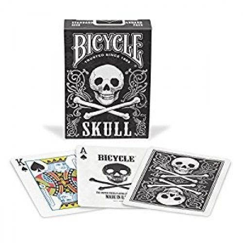 Baralho Bicycle skull edição limitada cor prata B+