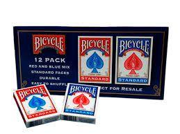 Baralho Bicycle Standard  Azul Caixa com 12 Unidades M+