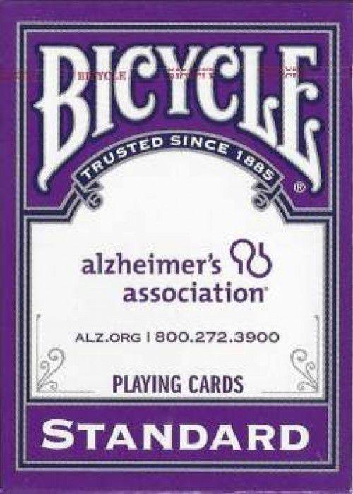 Baralho Bicycle Standard Roxo da Alzheimer's Association R+