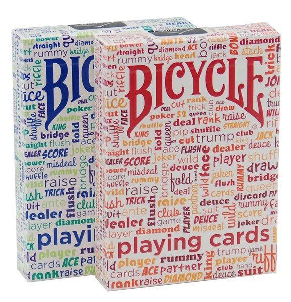 Baralho Bicycle Table Talk azul ou vermelho  R+