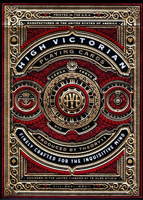 Baralho High Victorian Red - premium by Theory 11 B+ up