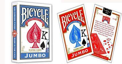 Baralho Invisível Bicycle Jumbo Index Vermelho ou Azul M+