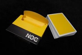 BARALHO NOC AMARELO - minimal playing cards