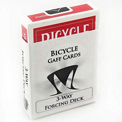 Baralho para Force Bicycle  (3 cartas / 3 way deck ) dorso azul ou vermelho B+
