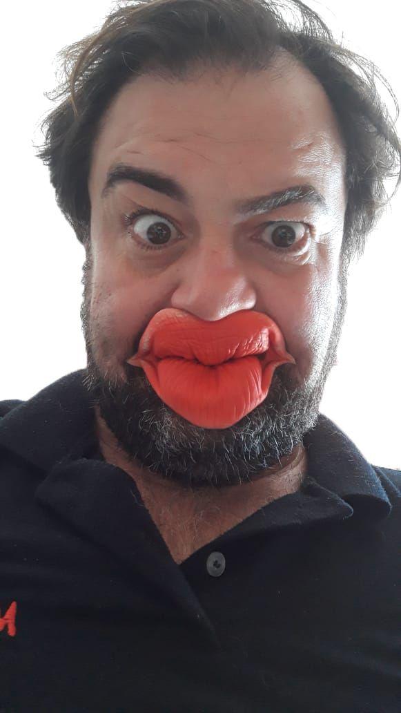 Boca beijo látex super qualidade Cosplay fantasia spook J+