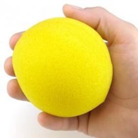Bola de espuma Grande jumbo Goshman Super Soft  4  inch COR  amarelo