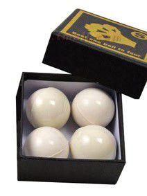 Bolas Excelsior Borracha Branca 4,2 cm - 4 Bolas 2 Casquinhas