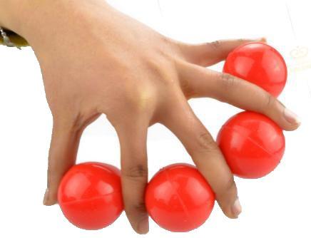 Bolas Excelsior Borracha Vermelha 4,2 Cm 4 Bolas + 2 Casquilhas M+